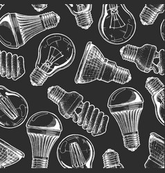 pattern with different lightbulb vector image