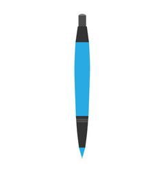 Pen rollerball isolated icon ballpoint on white vector