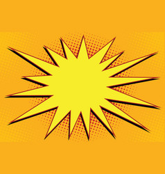 Pop art comic splash orange vector