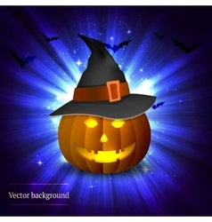 Pumpkin on a bright background vector