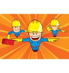 Repairman superhero vector