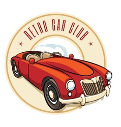 Retro car label vector