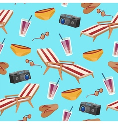 Summertime Holidays Seamless Pattern vector image