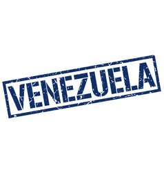 Venezuela blue square stamp vector