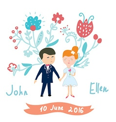 Wedding invitation funny card vector image