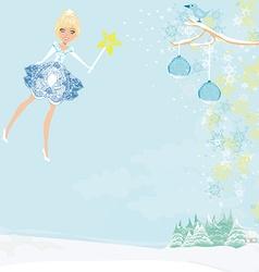 Winter fairy vector