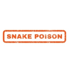Snake poison rubber stamp vector