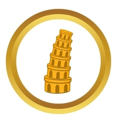 Pisa tower icon vector