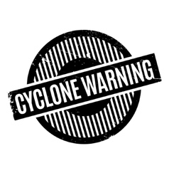Cyclone warning rubber stamp vector