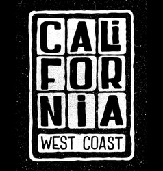 California west coast poster vector