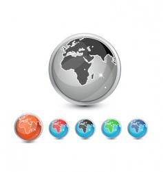 glossy world vector image