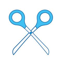 blue icon scissors cartoon vector image