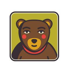 Bear face flat icon animal icons series bear vector