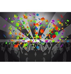 crowd concert vector image