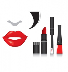 Make up lips vector