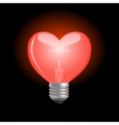 Heart shaped bulb vector