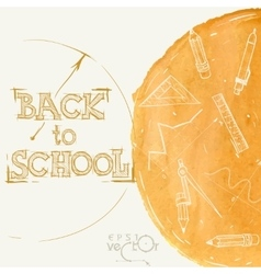 Welcome back to school vector