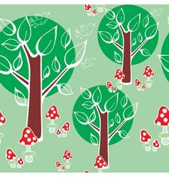 mushroom forest vector image