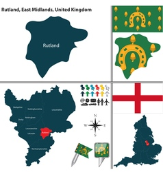 Rutland east midlands vector