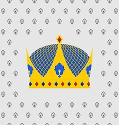 Royal crown of gold with precious stones vector
