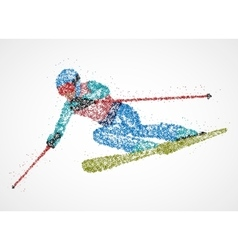 abstraction skier skiing vector image