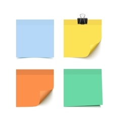 Set of four colorful sticky notes vector