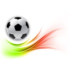 Football on abstract shape smoke vector