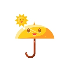 Umbrella hot under sun vector