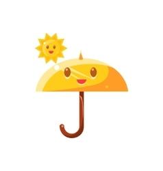 Umbrella Hot Under Sun vector image