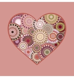 Romantic bright colorful heart greeting card vector