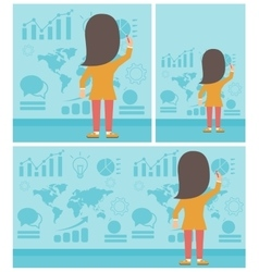 Business woman presenting report vector