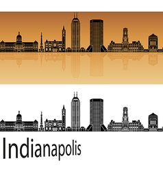 Indianapolis skyline in orange vector image