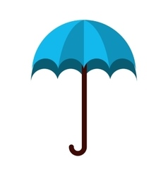 Umbrella protection blue icon vector
