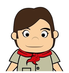 Scout boy cartoon icon vector