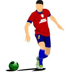 al 0310 soccer vector image vector image