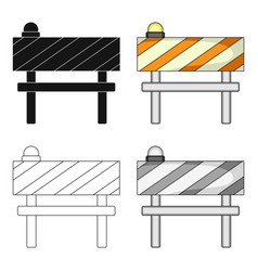 Barrier single icon in cartoon stylebarrier vector