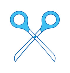 blue icon scissors cartoon vector image vector image