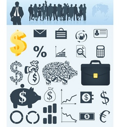 business a collection vector image vector image