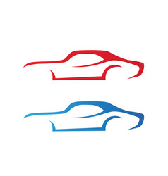 car silhouette logo template icons app vector image
