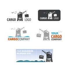Cargo logo and elements vector image