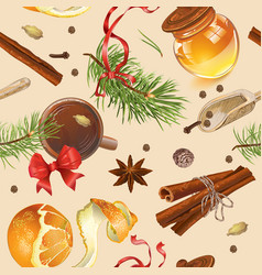 Christmas vintage pattern vector