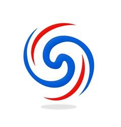Circular abstract swirl logo vector