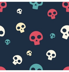 Colored Small Skull Pattern vector image