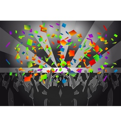 crowd concert vector image