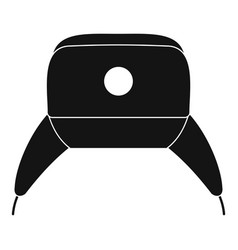 Earflap hat icon simple style vector