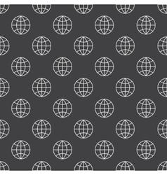 Earth globe dark pattern vector image