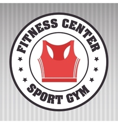 fitness center sportswear gym vector image