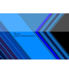 Geometric blue modern backgrounds vector