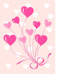 Greeting or invitation card with heart vector image vector image
