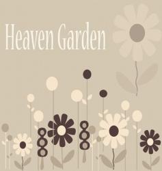 heaven garden vector image vector image